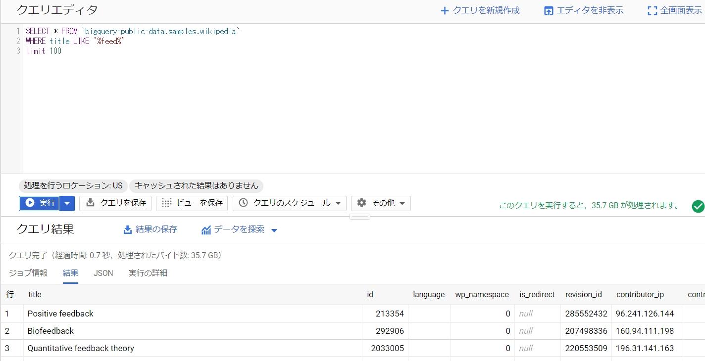 BigQuery SQL select LIKE