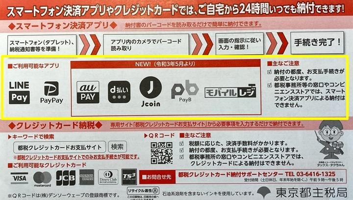 自動車税-納付スマホ-東京都